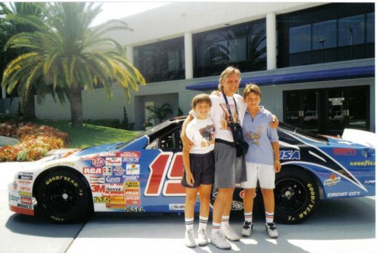 1996 International Speedway Daytona FL, passionnés de père en fils.