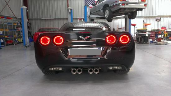 Corvette C6 feux led